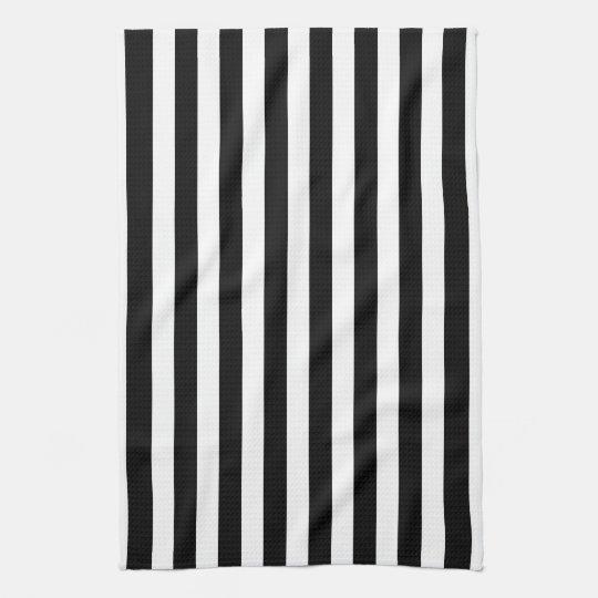 Black and White Cabana Stripe Towels