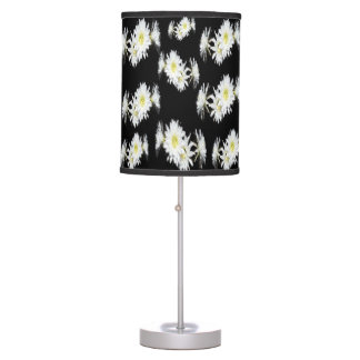 Black And White Cacti Flower, Table Lamp
