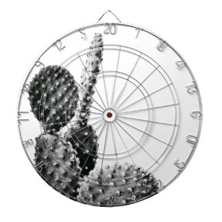 Black and White cactus black and blank Dartboard With Darts