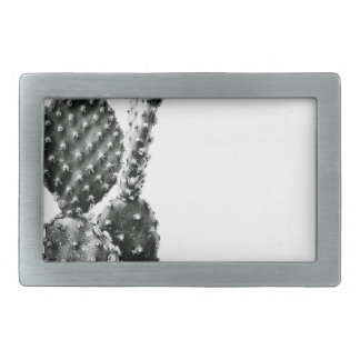 Black and White cactus black and blank Rectangular Belt Buckles