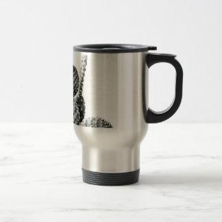 Black and White cactus black and blank Travel Mug