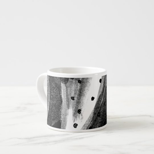 Black and White Cactus Espresso Cup