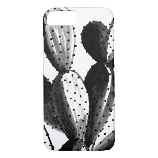 Black and White Cactus iPhone 8/7 Case