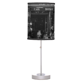 Black and White Cafe in Montmartre, Paris Table Lamp