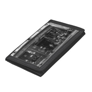 Black and White Cafe in Montmartre, Paris Trifold Wallets