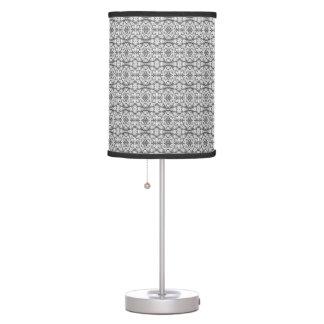 Black and White Caladium Lamp