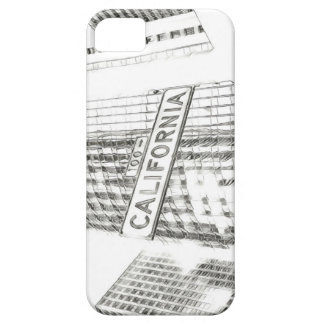 black and white california sign phone case