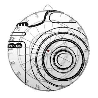 Black and white camera dartboard
