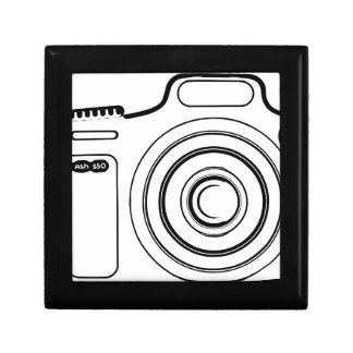 Black and white camera gift box