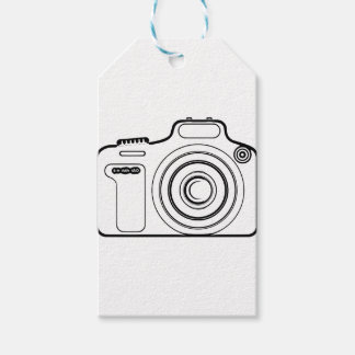 Black and white camera gift tags