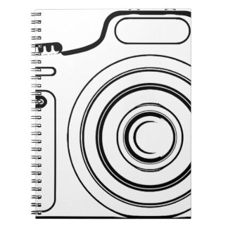 Black and white camera notebook