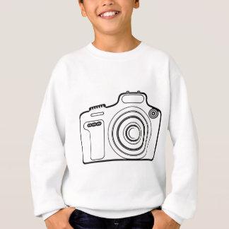 Black and white camera sweatshirt