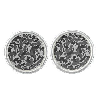 """""""Black and White camo"""" design cuff links"""