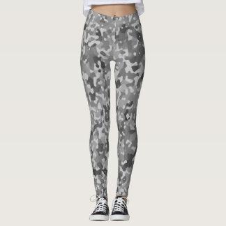 Black and White Camo Pattern Leggings