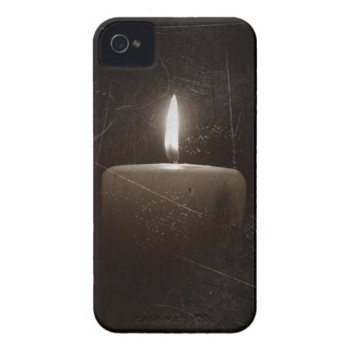 Black and White Candle Grunge Distressed Photo Blackberry Bold Cover