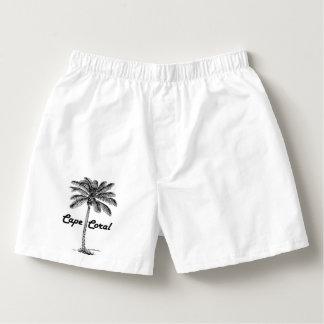 Black and White Cape Coral & Palm design Boxers