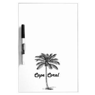 Black and White Cape Coral & Palm design Dry Erase Board