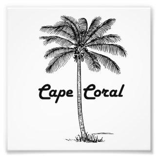 Black and White Cape Coral & Palm design Photo Print