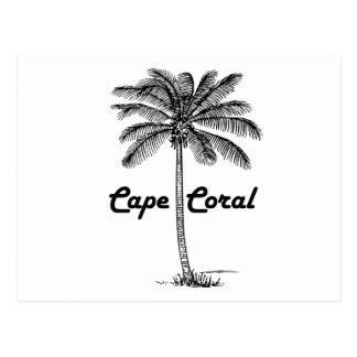 Black and White Cape Coral & Palm design Postcard