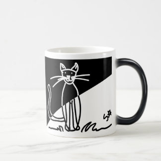 Black and White Cat 1 Morphing Mug