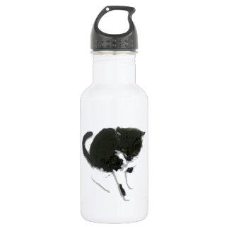 Black and White Cat Art 532 Ml Water Bottle