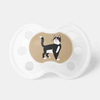 Black and white cat. baby pacifier