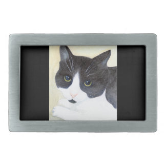 Black and White Cat Belt Buckle