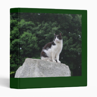 Black and white cat binder