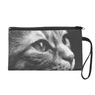 Black and White Cat Clutch Bag Wristlet