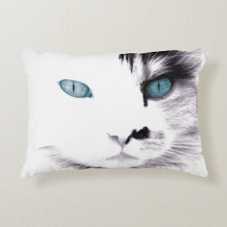 Black and White Cat Decorative Pillow