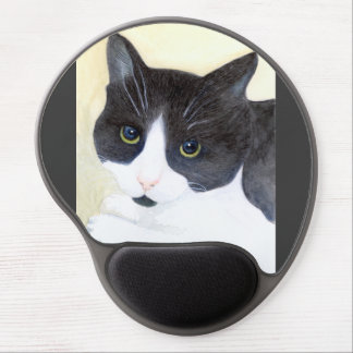 Black and White Cat Gel Mouse Pad