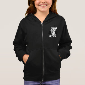 Black And White Cat Girls Hoodie
