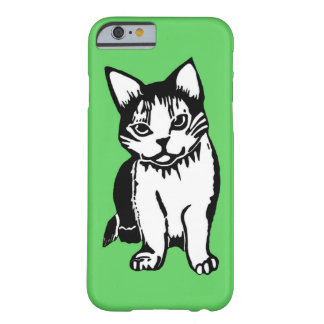 Black and White Cat Green iPhone 6 Case