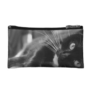 Black and White Cat Makeup Bags