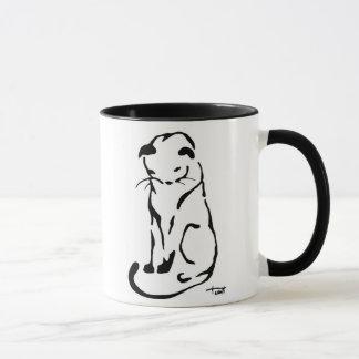 Black and White Cat Mug