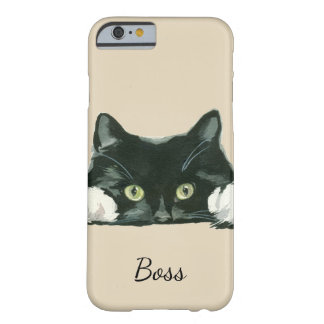 black and white cat phone cover editable