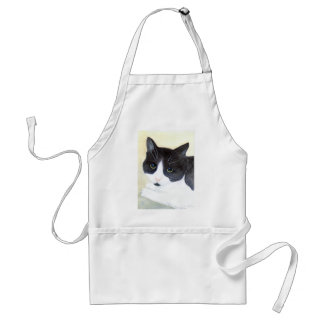 Black and White Cat Standard Apron