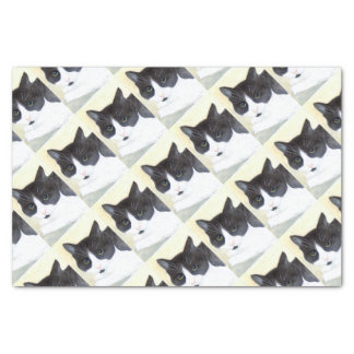 Black and White Cat Tissue Paper