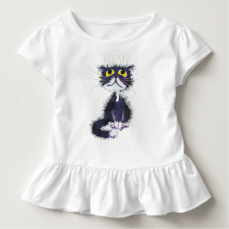 Black and white cat toddler t-shirt