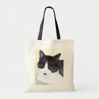 Black and White Cat Tote Bag