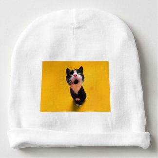 Black and white cat-tuxedo cat-pet kitten-pet cat baby beanie