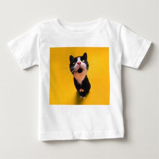 Black and white cat-tuxedo cat-pet kitten-pet cat baby T-Shirt