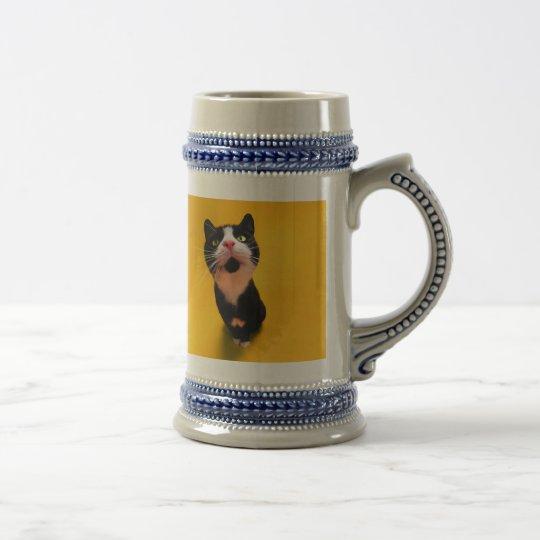 Black and white cat-tuxedo cat-pet kitten-pet cat beer stein