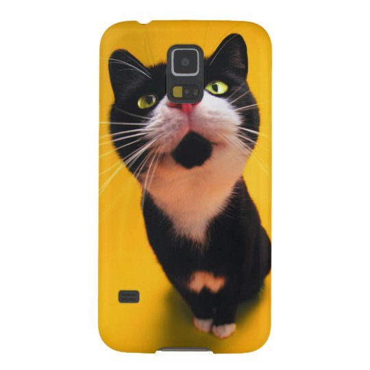 Black and white cat-tuxedo cat-pet kitten-pet cat case for galaxy s5
