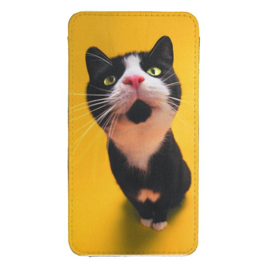Black and white cat-tuxedo cat-pet kitten-pet cat galaxy s4 pouch