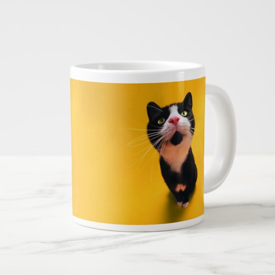 Black and white cat-tuxedo cat-pet kitten-pet cat giant coffee mug