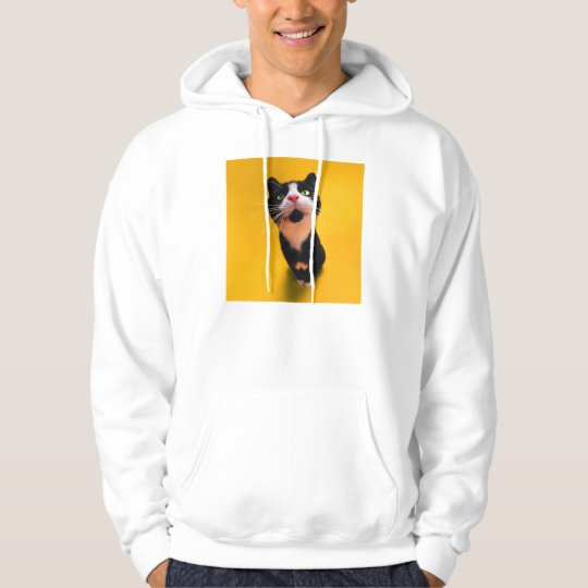 Black and white cat-tuxedo cat-pet kitten-pet cat hoodie