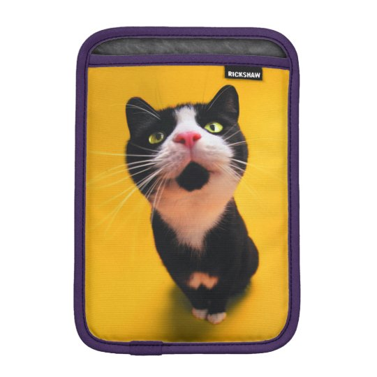Black and white cat-tuxedo cat-pet kitten-pet cat iPad mini sleeve