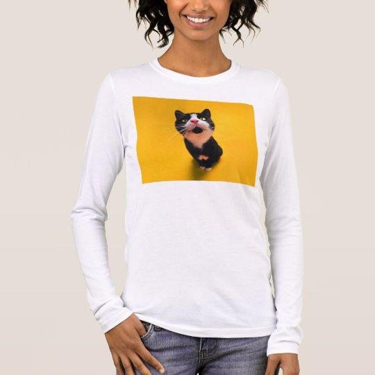 Black and white cat-tuxedo cat-pet kitten-pet cat long sleeve T-Shirt