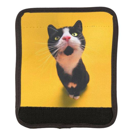 Black and white cat-tuxedo cat-pet kitten-pet cat luggage handle wrap